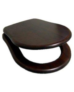 Nostalgie Holz Soft Close WC-Sitz mit Deckel Oxford, Walnuss