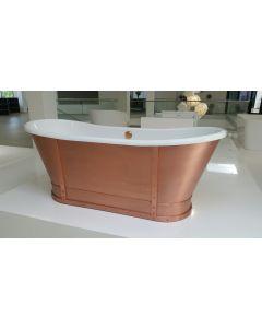 Freistehende Badewanne Prince, Kupfer