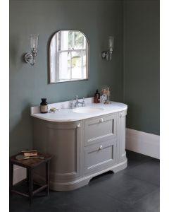 Waschtisch Kommode Burlington 134 cm mit Türen & Schubladen, Minerva Weiß