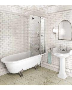 Freistehende Dusch-Badewanne Hampton 1700 rechts