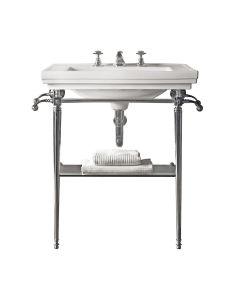 Metallunterbau mit Glasablage für Waschbecken Astoria Deco 64 cm