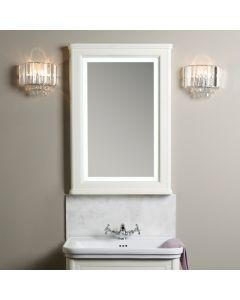 Laura Ashley Langham Spiegel mit Beleuchtung Cotton White