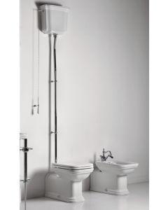 Retro Stand-WC Adlon mit hohem Spülkasten mit Kette