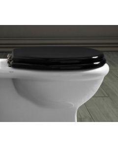 Nostalgie WC Sitz für wandhängendes WC London, schwarz