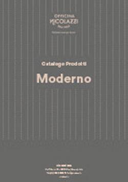 Katalog Nicolazzi Moderno